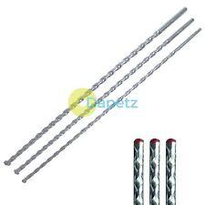 New 3pc Masonry Drill Bit Set 8, 10, 12 X 400MM Long Heavy Duty Metal Masonary