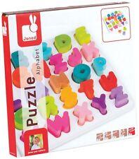 Janod Wood Alphabet Puzzle - New