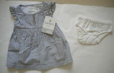 Nwt Carters Newborn Girls Cotton Lined Dress & Diaper Cover