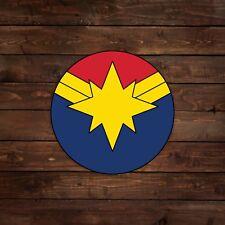 Captain Marvel Circular Logo Decal/Sticker