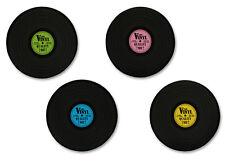 """Tischsets Schallplatte 4er Set Retro Style """"Records"""""""