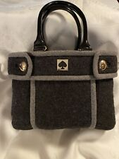 KATE SPADE CHESTNUT HILL 2 TONE GRAY ALDA QUINN WOOL SATCHEL TOTE HTF $298