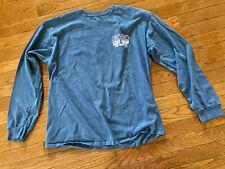Unisex Blue Ron Jon Surf Shop LS T-Shirt Sz. L