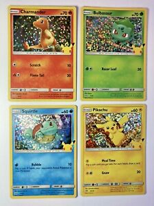 Pikachu 25/25 Pokemon 25th Anniversary McDonalds HOLO You Pick Combine Shipping