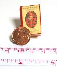 1230# Nostalgiebuch engl. - How to grow roses - Puppenhaus - Puppenstube M1zu12
