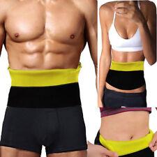 Mens Women Neoprene Slimming Belt Body Shaper Tummy Tuck Girdle Waist Cincher US