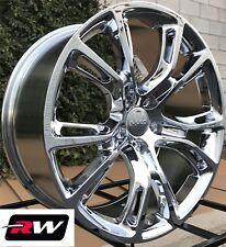 "20"" inch Jeep Grand Cherokee 20x9"" 20x10"" Staggered Wheels Chrome Rims 5x5 5x127"