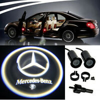 2 x Mercedes Lamps LED Light Bulbs Projection Courtesy Lights Decorative Tuning