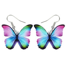 Acrylic Floral Butterfly Earrings Dangle Drop Insect Jewelry For Women New Gifts