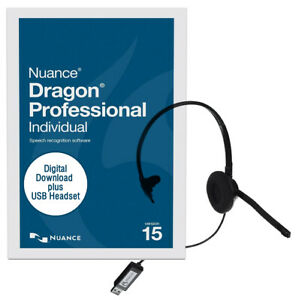 Dragon Professional Individual 15 ESD with USB Headset - Windows