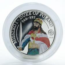 Palau, 2 dollars, 2010, Mieszko I, Duke of Poland, 1/2 oz Silver