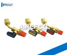 "HVAC- R410a 45° HVAC Ball Valve Adaptor 5/16"" M - 5/16 F-Manifold Refrigeration"
