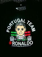 C RONALDO #17  Mens L Jersey &  BLACK T-Shirt PORTUGAL Soccer Football Shirt Kit