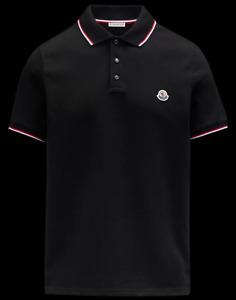 Moncler Poloshirt Herren mit kurzen Ärmeln, schwarz, Größe XXL, neu mit Etikett