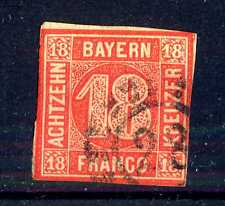 GERMAN STATES  -  BAYERN - 1862 - Grande cifra in cerchio. E5335