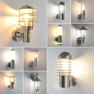 Außenlampe Bewegungsmelder Edelstahl Außenleuchte Garten LED E27 Wandleuchte
