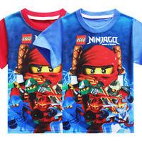 Kids Boy Baby Ninjago Big Eyes Short Sleeve T-shirt 4-9 years Children Clothing