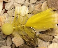 4 All Yellow Dancer booby Mini Lures Trout Flies Size10