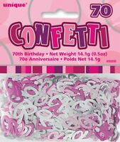 Pink Glitz Age 70 Birthday Table Confetti 14 Gram Packet 70th Party Decorations