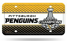 Pittsburgh Penguins 2016 Stanley Cup Champions Metal License Plate Tag Hockey