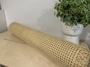 90cm x 1 Metre Rattan Cane Webbing Panels for Furniture Restoration Up-Cycling