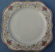 Ornate Gold Rim Baronet Duchess - Square Luncheon Plate - Bohemia Czechoslovakia