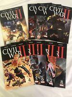 Marvel Comic Lot: Civil War II Complete Set #1-8 + #0 - Great Condition