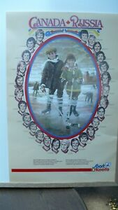 Team Canada Russia 1974 Hockey vintage poster Sport O'Keefe poster 23X 14.5