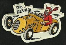 VINTAGE STYLE 1950s REPRO THE DEVILS HOT ROD CLUB ROCKABILLY GREASER BIKER PATCH