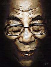 Dalai Lama Budismo Tibetano Tsutgalan cartel de impresión de arte pintura al óleo LFF0034