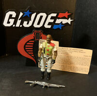 1986 V1 GI Joe ROADBLOCK - Heavy Machine Gunner with File Card
