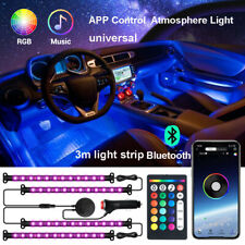 4in1 RGB Auto Lichtleiste LED Innenraumbeleuchtung Ambientebeleuchtung Set APP