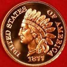 1877 Indain Head Cent Copper Bouillon  Round  ID #48