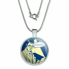 """You're Suffering From Beer Elbow Funny Humor 1"""" Pendant w/ Silver Plated Chain"""