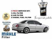 FOR JAGUAR X TYPE 2.0TD 2.2TD SERVICE KIT OIL AIR FUEL FILTERS * OE QUALITY *