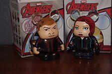 "Disney Vinylmation Avengers Age of Ultron Hawkeye Black Widow 2 Marvel 3"" Figure"