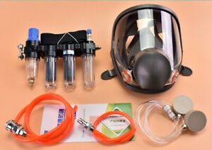 4 in1 Painting Safety Supplied Air Fed Respirator System 6800 Full Face Gas Mask