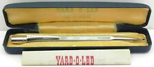 More details for vintage solid silver yard o led propelling pencil, london 1969, by yol, boxed.