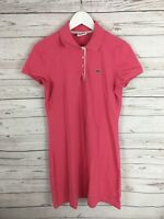 LACOSTE Polo Shirt Dress - UK10 - Pink - Great Condition