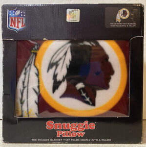 "New NFL Washington Redskins SNUGGIE Blanket w Sleeves Folds into Pillow 68""x55"""