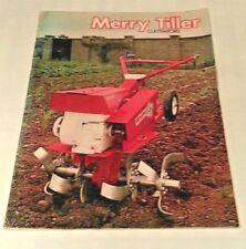 Merry Tiller Cadetto maggiore SUPER MAJOR Titano Titano G.T. Coltivatore Brochure di vendita