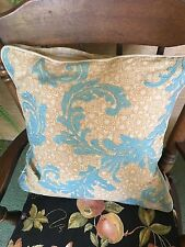 GORGEOUS Villa Home Pillow - GOLDS & TURQUOISE -DUCK FEATHERS-17 X 17