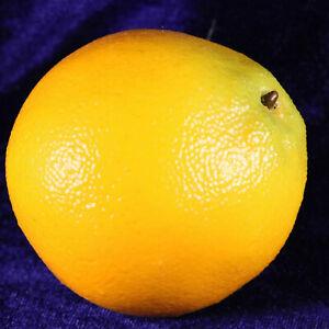 Faux fruit large orange 3 inches tall decorative item display item