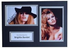 Brigitte Bardot Signed Autograph A4 photo mount display Hollywood Film Model COA