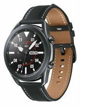 Reloj Samsung Galaxy 3 R840 45mm Caja de acero inoxidable con correa de cuero-como Nuevo