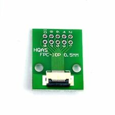 FFC FPC 10 Pin 0.5mm 1.0mm to DIP 2.54mm PCB Converter Board Double Side Adapter