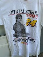 VTG Nascar 1995 Winston Cup Series Schedule T-shirt Men's Large Jeff Gordon #24