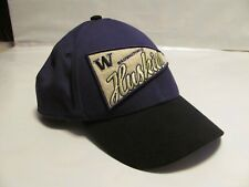 9Forty Era Washington Huskies Baseball Hat Snapback Patch Pennant Cap Purple