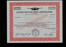 Custer Channel Wing Corporation Aircraft Aviation * rare Specimen *