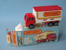 Matchbox Mercedes Container Truck with Reverse Labels Boxed Rare